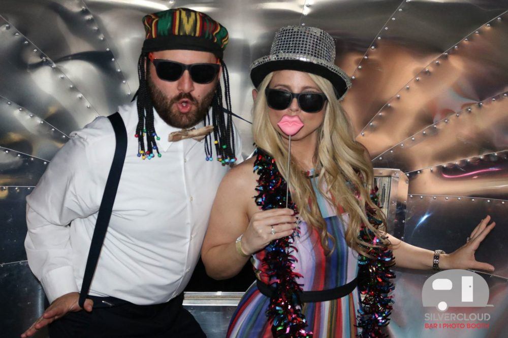 Inside the Silvercloud Airstream Photo Booth Trailer