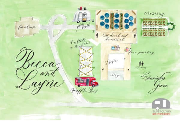 Airstream Themed Wedding Map