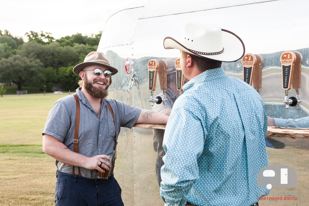 Party Guests Get Beer at the Silvercloud Beer Trailer