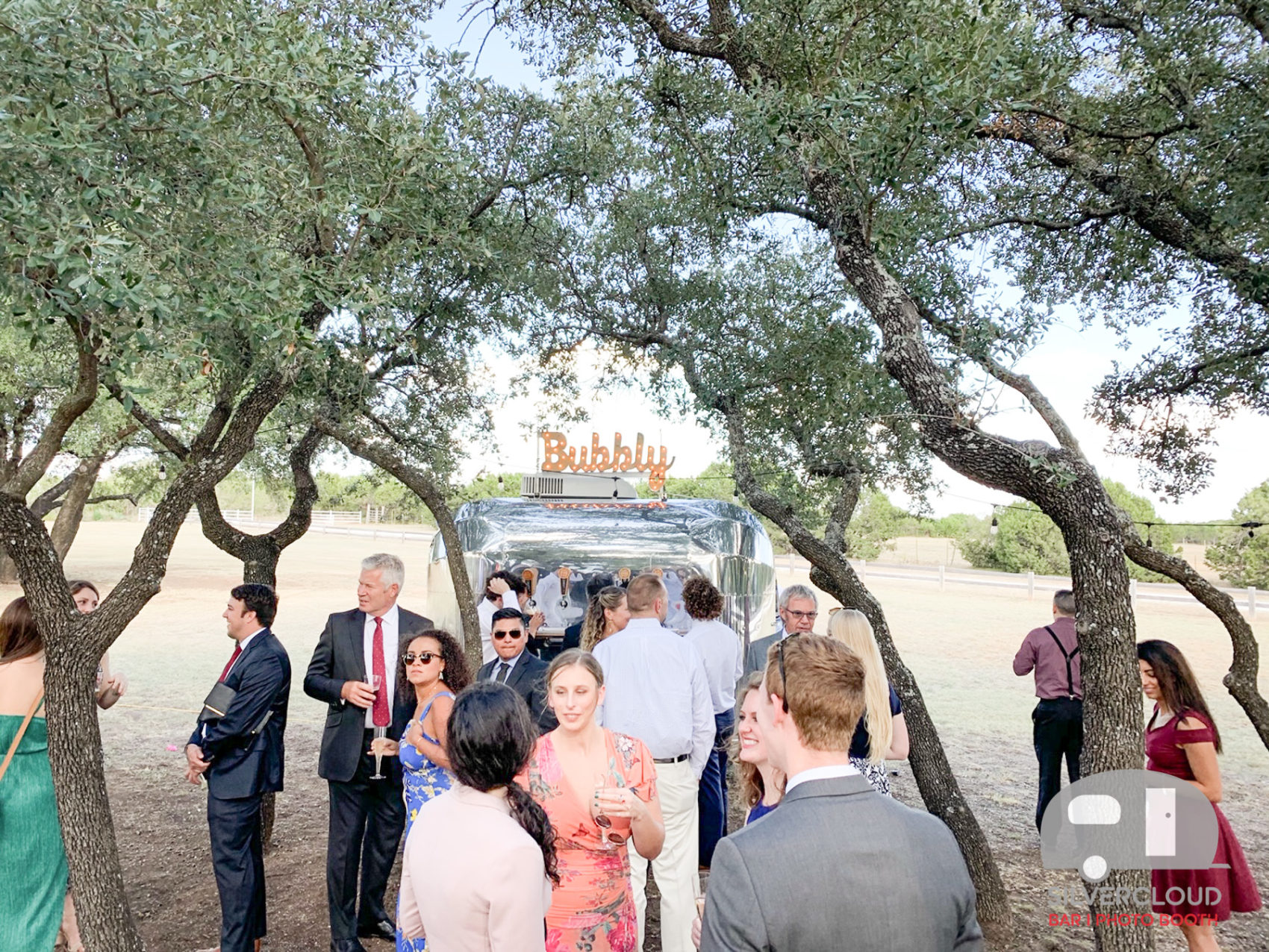 Prosecco Trailer For Cocktail Hour at Wedding