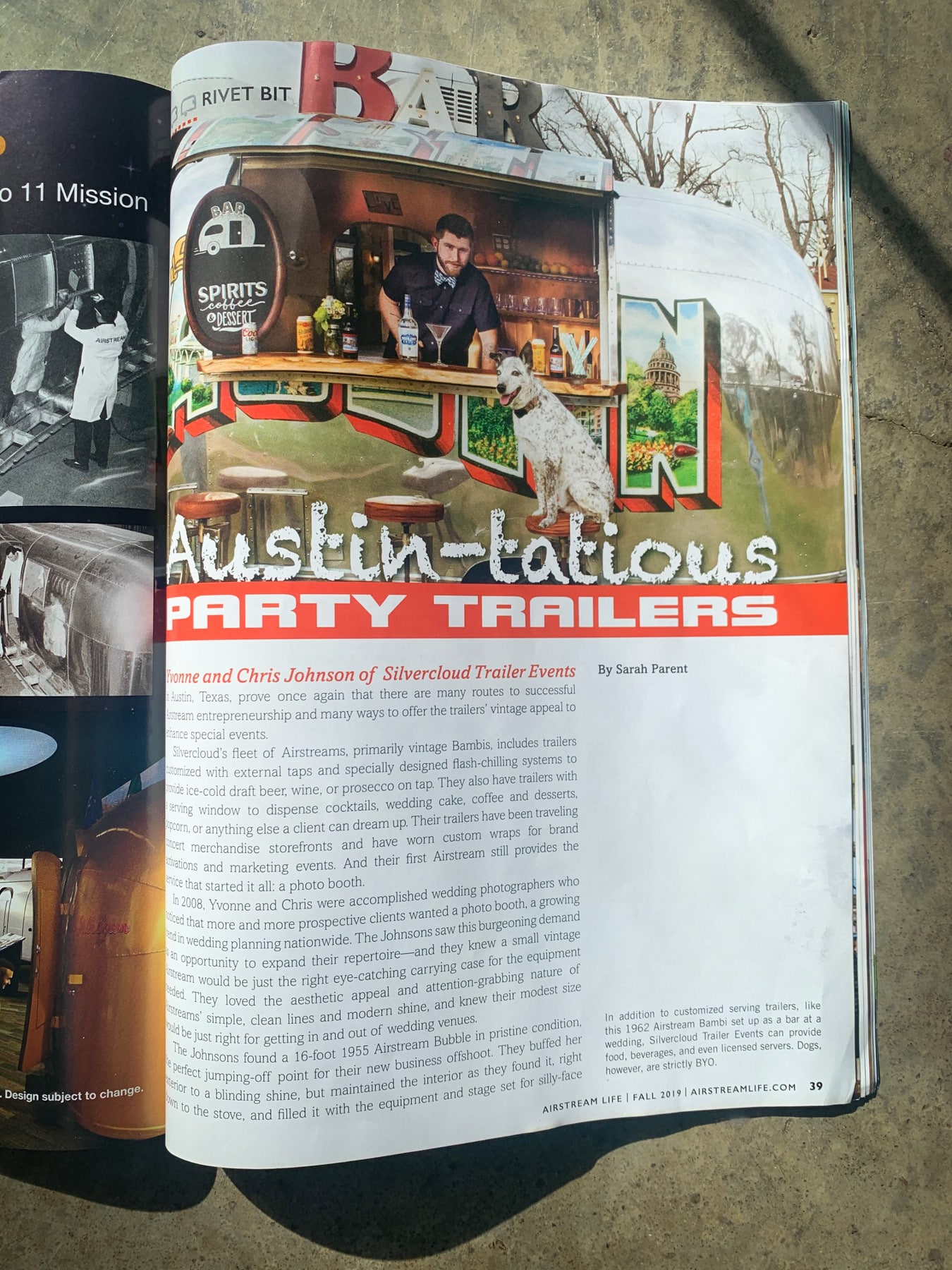 Airstream Life Features Silvercloud Trailer Events