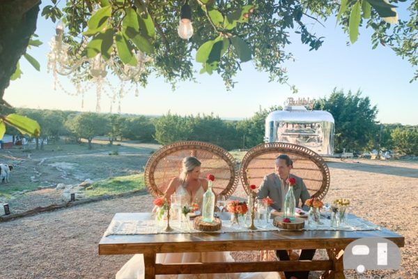 Ranch Wedding with Prosecco Trailer